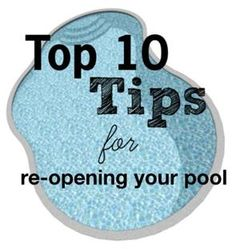 Open your pool the right way