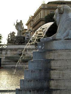 Fountain at Piazza del Popolo, Rome.