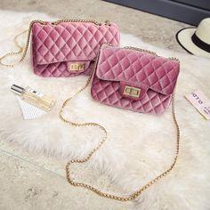 Velvet Quilt Handbag