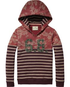Hooded Patches Sweater   Sweat   Boy's Clothing at Scotch & Soda