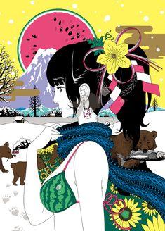 excite エキサイト : ブログ(blog) Illustration Sketches, Character Illustration, Graphic Design Illustration, Figure Painting, Painting & Drawing, Geisha, Japanese Artwork, Manga Artist, Art For Art Sake