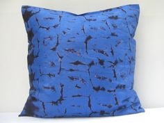 Hand tie dyed pillow Throw Pillow Cover 18 x 18 by AddisonMade, $60.00