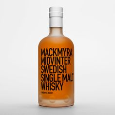 New packaging design by Stockholm Design Lab for Swedish whisky brand Mackmyra. As SDL explains: 'Our relationship with Mackmyra began in 2013 when they approached us to help create packaging for their seasonal limited edition whiskey's; our first assignment was (Mid-winter). The winter whisky had matured in mull wine barrels, giving it a hint of the traditional Scandinavian winter beverage, and a taste of Mackmyra's dedication to its Swedish origin. We designed a frost white, ...
