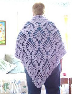 Ravelry: Triangle Pineapple Shawl from Doily pattern by Maria Merlino