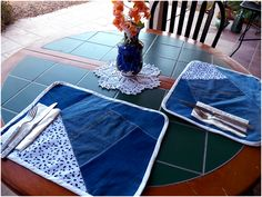 Art Threads: Monday Project - Denim Placemats