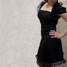 Weddings, parties, anything.. gothic cocktail dress.