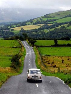 Mini Cooper and an open country road.  Heaven.