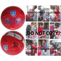 2016 USA Mens National Soccer Team, Signed, Autographed, USA Logo Soccer Ball, a COA with the Proof Photos Will Be Included-