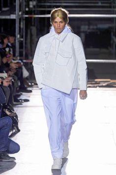 commedesgarcons dinosaur menswear mens pfw pfwm paris runway @sssourabh Women's Runway Fashion, Mens Fall, Balmain, Raincoat, Normcore, Menswear, Paris, Jackets, Style