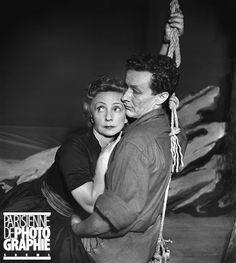 L'Echange  de Paul Claudel. Jean-Louis Barrault et Madeleine Renaud. Paris, théâtre Marigny, février 1951.