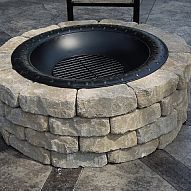 We built this simple firepit at the end of the summer and it only take… :: Hometalk