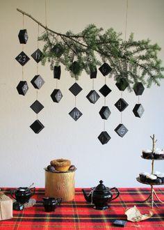Hanging Chalkboard Advent Calendar