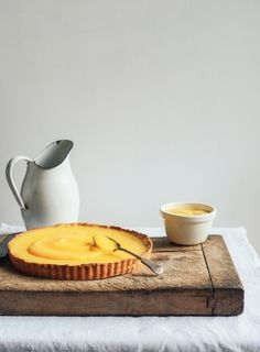 This is my latest incarnation of a lemon tart – a combination with lemon cheesecake/tart filling topped with extra zingy home-made lemon curd.