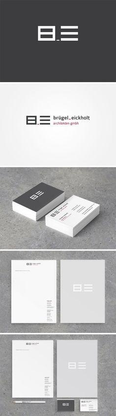 Corporate Design für Brügel_Eickholt. | #logo #design #corporate design #branding #typo #Architektur # architecture #designhouse #visitenkarten #buisness card #briefpapier #letterhead | made with love in Stuttgart by www.smoco.de