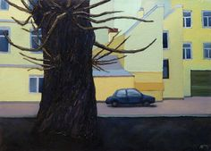 Ruben Monakhov. The Poplar. Oil on canvas, 45х60 cm.,  2015.  http://rubenm.spb.ru