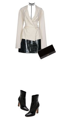 """""""U say u run ur f***in town? We need to link up..."""" by nastasiaboursi on Polyvore featuring Boohoo, Jolie By Edward Spiers, Jean-Paul Gaultier, Balmain, Gianvito Rossi and WithChic"""