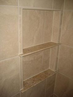 I want to make a shelf similar to this one in my shower with a marble threshold as the intermediate shelf... we'll see if it works!