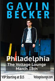 """Gavin Becker at The Voltage Lounge - https://www.muvents.com/philadelphia/event/gavin-becker-at-the-voltage-lounge/ - Event Show Time: March 18 @ 4:30 pm -   Gavin Becker at The Voltage Lounge Silver VIP 2:45 PM: General Meet and Greet + access to the concert Gold VIP 1:30 PM: Meet and Greet, 45 minute """"hang out"""" with Gavin, Q&A session with Gavin, early access for premium view of the concert Platinum VIP 12 PM: Pre-show hour long backstage hangout with Gavin, […] #PhiladelphiaMusic #M.."""