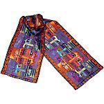 LAUREL BURCH-Scarves.  Authentic silk art scarves elegantly created and signed by Laurel Burch.  Wrap one around your waist or drape it over your shoulders. These beautiful 53x11in designer scarves wi