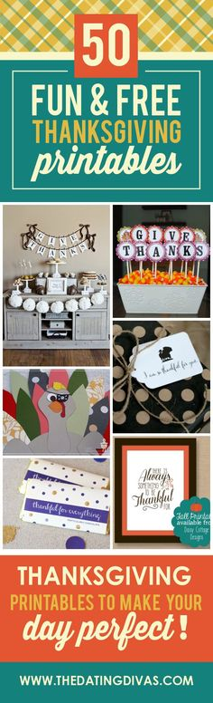Fun and FREE Thanksgiving Printables- so many gorgeous downloads to make your Thanksgiving holiday extra special.