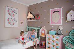 Una habitación de niña de tonos pastel | Decorar tu casa es facilisimo.com