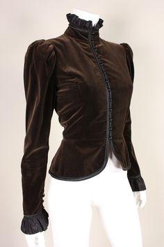 wan it ... Vintage Late 1970's Yves Saint Laurent Velvet Jacket