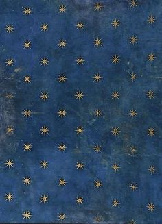 Giotto, Vault of Scrovegni Chapel, Padua (Fresco, detail.Giotto used lapis lazuli blue on the ceiling vault to depict Heaven itself. Star Patterns, Textures Patterns, Color Patterns, Print Patterns, Fresco, Inspiration Art, Of Wallpaper, Blue And Gold Wallpaper, Nursery Wallpaper