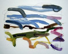 Wales - Summer 2003. Oil paint on paper.
