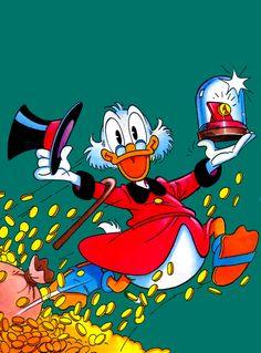 Uncle Scrooge - vintage comics art Disney Duck, Disney Mickey, Disney Art, Disney Movies, Disney Pixar, Walt Disney, Mickey Mouse, Cartoon Cartoon, Cartoon Drawings