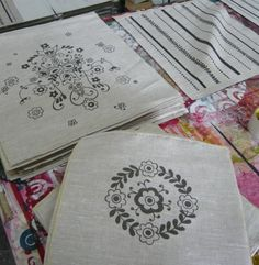 screen printing on linen