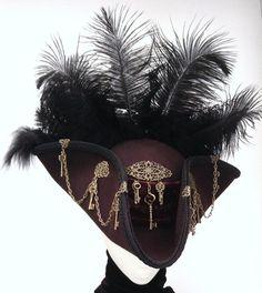 Piratendreispitz mit Totenkopf Pirat Piratenhut Hut Fasching Kostüm Dreispitz