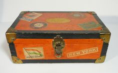 Régi Kugler Henrik Gerbeaud  utazóláda csokoládé doboz / Vintage Chocolate Box, Candy Box