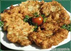 Cukkini lepény Fruits And Vegetables, Risotto, Vegetarian, Dishes, Meat, Chicken, Ethnic Recipes, Bors, Recipies