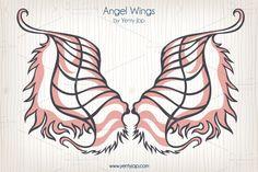 Angel Wings Tattoo by Yenty Jap on @creativemarket