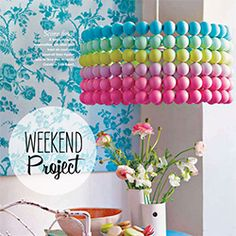 DIY Ping Pong Lampshade (via Poppy Talk)  What a great lampshade for a little girl's room!  love it!