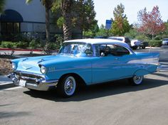 "57 Chevy Belair ~ This was our ""family"" car.  Dad drove me to school, and I got it on the weekends!!!"