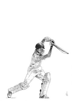 Cricket Batsman Unframed Print by Me and My Sport, the perfect gift for Explore more unique gifts in our curated marketplace. Cricket Logo, Cricket Sport, Sports Art, Sports Posters, India Cricket Team, Gesture Drawing, Coloring Pages To Print, Art Drawings Sketches, Neutral Colors