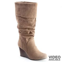 Slouchy wedge boot   $29.99  http://www.kohls.com/product/prd-1094326/so-midcalf-slouch-wedge-boots-juniors.jsp