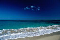 The waters of Playa de Corralejo on Isle de Fuerteventura.~ Gran Canaria, Canary Islands