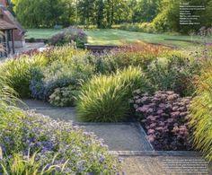 Best Modern Front Yard Landscaping Ideas – Home/Decor/Diy/Design - Bepflanzung Front Garden Landscape, Front Yard Landscaping, Landscaping Ideas, Outdoor Landscaping, Landscaping With Grasses, Inexpensive Landscaping, Backyard Ideas, Landscape Grasses, Landscape Bricks