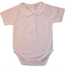 5af34fc53 Kissy Kissy Baby Basic Short Sleeve Collared Bodysuit with Bebe Months: Kissy  Kissy - Basic SS Bodysuit Bebe Collar - White