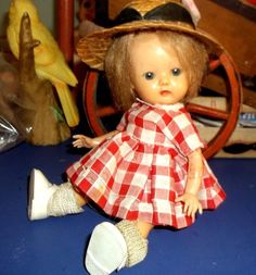 VINTAGE  DOLL see Ebay #302008015629 for 1950's 8 inch HP strung doll Pitiful TLC No Name ? #Unbranded #Dolls