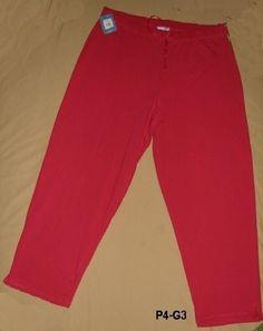 Plus Size Ladies Workout pants! NEW  ProSpirit  Womens  Sz 3X Red Sweatpants $13 free ship  #starchild3