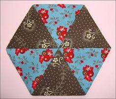 Afbeeldingsresultaat voor patchwork patronen hexagon en driehoek