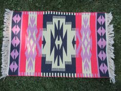 Vintage Southwestern Throw Rug by jclairep on Etsy, $20.00
