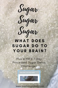 Have you ever wondered what sugar is doing to your brain? Well there are many side effects to consuming too much sugar, but I never really considered what it was doing to my brain. Don't forget to save this pin for later! Healthy Detox, Healthy Tips, How To Stay Healthy, Healthy Food, Healthy Recipes, Detox Recipes, Sugar Detox Diet, Detox Challenge, Cleanse Your Body