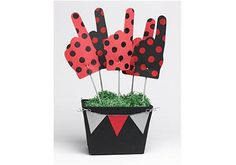 Game Day Foam Fingers and Basket with FolkArt Multi-Surface Paints