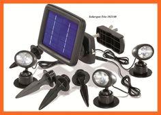 LED Solarstrahler 3er Solarspot Solarleuchte Solarlampe Außenstrahler NEU 102140