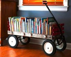 This would be a great opportunity to move things around in the classroom when necessary- books could be mobile rather than set in one area permanently. It just seems like a fun idea in general too.