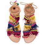 Elina Linardaki Leather Tahiti Sandals